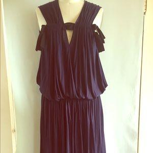 Lanvin blue knit dress